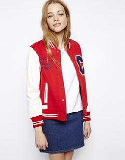 ASOS - White Chocoolate Varsity Jacket