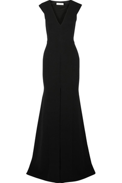 Victoria Beckham - Silk and Wool-Blend Crepe Gown