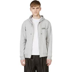 Maison Martin Margiela  - Grey Zip Up Logo Hoodie