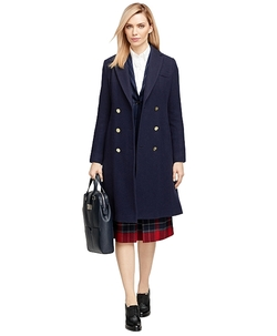 Brooks Brothers - Wool Double-Breasted Pleated Coat