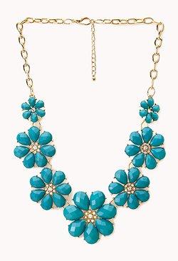 Forever21 - Vibrant Floral Bib Necklace