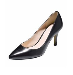 Cole Haan - Juliana Leather Mid-Heel Pumps
