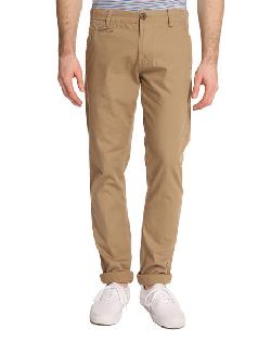 KNOWLEDGE COTTON APPAREL   - Twisted Beige Chino Trousers