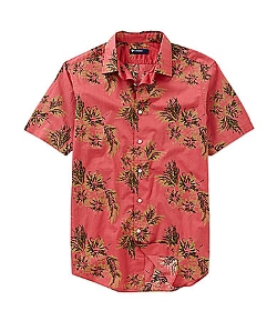 Cremieux  - Short-Sleeve Leaf Print Woven Shirt