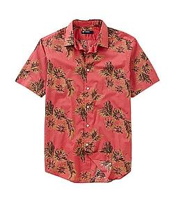 Cremieux  - Short-Sleeve Leaf Print Woven Shirt