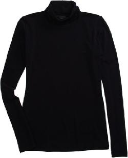 BARNEYS NEW YORK  - Solid Turtleneck Top