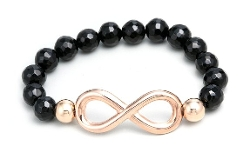 Stainless Steel Collection  - Pretty Rose Gold Infinity Bracelet