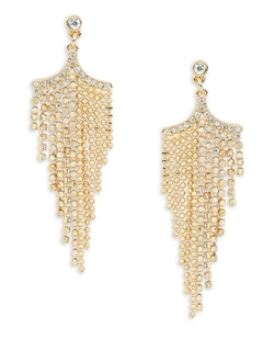 A.B.S. By Allen Schwartz - Goldtone Chain Chandelier Earrings