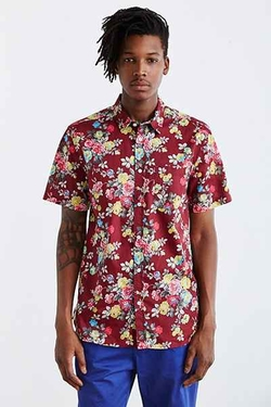 Urban Outfitters - Rose Floral Button-Down Shirt