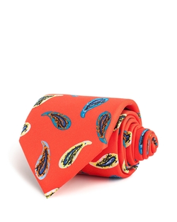 Thomas Pink - Abell Paisley Printed Classic Tie