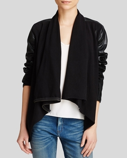 BLANKNYC - Faux Leather Asymmetric Zip Jacket