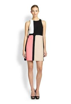 4.collective  - Colorblock Cotton Shift Dress
