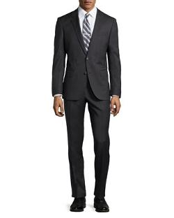 Hugo Boss  - Genius Tic-Weave Wool Suit