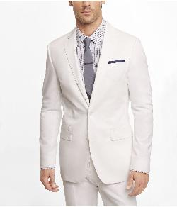 Photographer suiting - WHITE COTTON SATEEN PHOTOGRAPHER SUIT JACKET