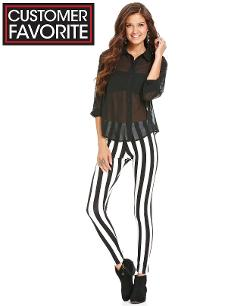 Customer Favorite - Material Girl Juniors Pants, Striped Leggings