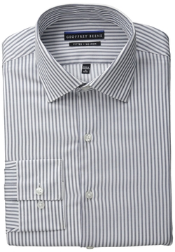 Geoffrey Beene - Fitted No Iron Stripe Dress Shirt