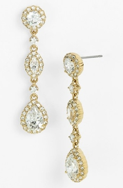 Nadri - Framed Cubic Zirconia & Crystal Drop Earrings
