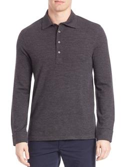 Polo Ralph Lauren  - Long Sleeve Wool Polo Shirt