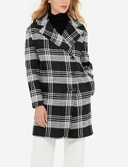 The Limited - Plaid Coat