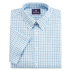 Stafford - Short-Sleeve Oxford Dress Shirt