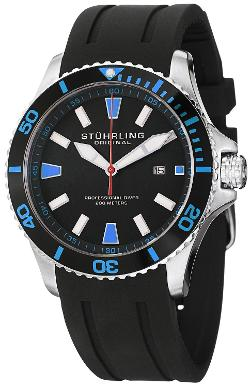 Stuhrling Original - Aquadiver Regetta Sport II Quartz Rubber Strap Watch