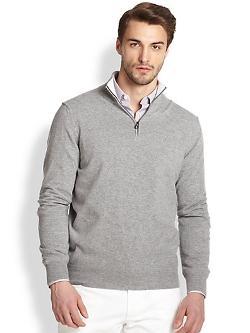Salvatore Ferragamo - Cashmere Quarter-Zip Sweater