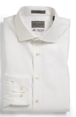 John W. Nordstrom Signature  - Trim Fit Stripe Dress Shirt