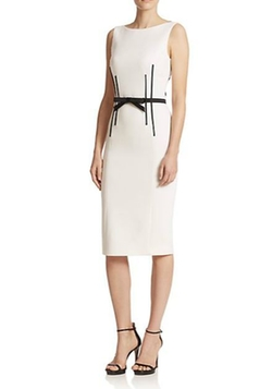Michael Kors  - Belted Boatneck Sheath Dress