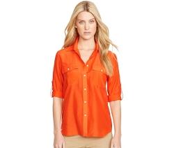 Lauren Ralph Lauren -  Petite Roll-Tab Shirt