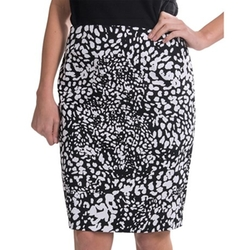 Evan Picone -  Stretch Cotton Pencil Skirt