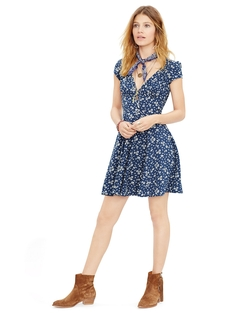 Denim & Supply - Floral Fit-And-Flare Dress