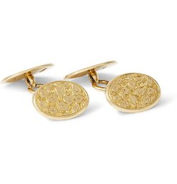 Foundwell Vintage   - Henry Griffith & Sons 18-Karat Gold Ivy Leaf Cufflinks