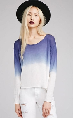 Forever 21 - Ombré Side-Slit Sweater