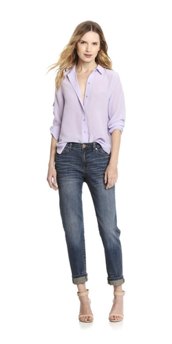 Joe Fresh - Silk Boyfriend Shirt