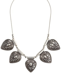 Charlotte Russe - Etched Medallion Statement Necklace