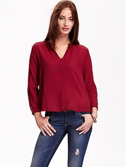 Old-Navy - Solid Trapeze Blouse