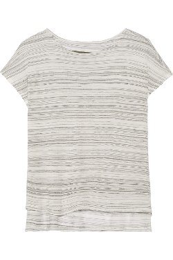 Enza Costa - Striped Jersey T-shirt