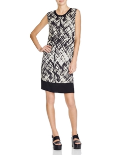 Vince - Basketweave Print Shift Dress
