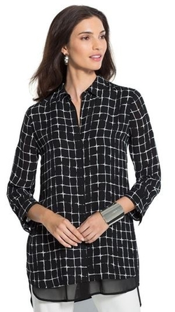Black Label - Grid-Pattern Shirt