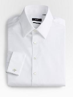 Hugo Boss - Diamond-Weave Tuxedo Shirt