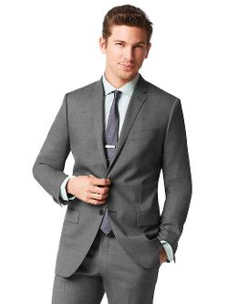 Banana Republic - Monogram Grey Pinpoint Italian Wool Suit Jacket