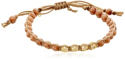 Tai  - Beads With Four Gold Crystal Bracelet