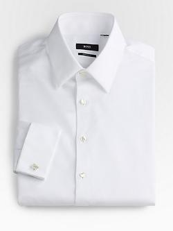BOSS HUGO BOSS  - Diamond-Weave Tuxedo Shirt