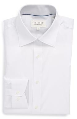 Ted Baker London  - Trim Fit Micro Stripe Dress Shirt