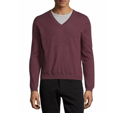 Just Cavalli  - Long-Sleeve V-Neck Wool Sweater