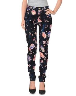 Calla  - Floral Print Denim Pants
