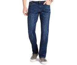 Izod - Straight-Fit Dark Vintage Jeans