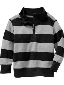 Old Navy - Long-Sleeve Mock-Neck Rugby Stripe Tees