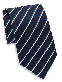 Saks Fifth Avenue  - Striped Silk Tie