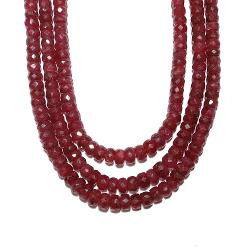 I Dig Crystals  - Gemstone Faceted Crystal Ruby Necklace